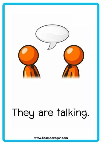 فلش کارت آموزش تصویری افعال کنشی و حال استمراری انگلیسی | Action Verbs