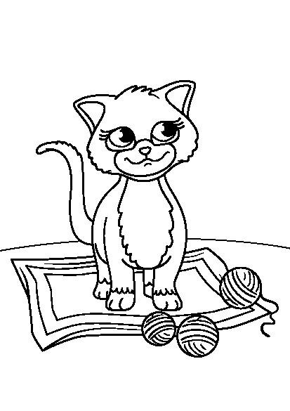 کتاب رنگ آمیزی برای کودکان | مجموعه گربه های بازیگوش
