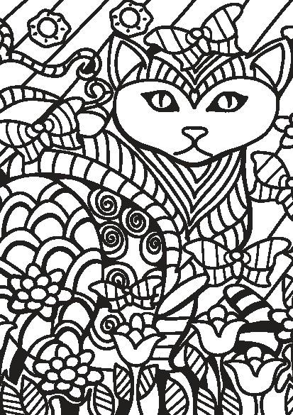 کتاب رنگ آمیزی بزرگسالان مجموعه تصاویر زیبای گربه ها