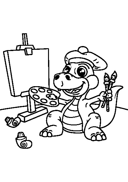 کتاب رنگ آمیزی برای کودکان | مجموعه رنگ آمیزی دایناسور کوچولو