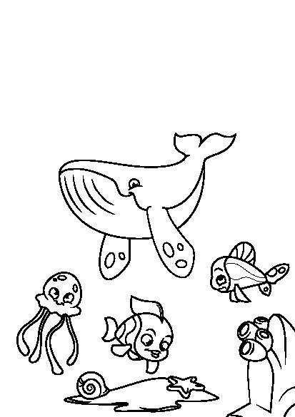 کتاب رنگ آمیزی برای کودکان | مجموعه رنگ آمیزی دنیای زیر آب با ماهی ها