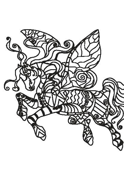 کتاب رنگ آمیزی بزرگسالان مجموعه تصاویر زیبای ماندالا اسب