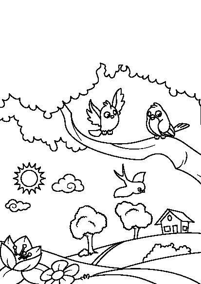 دانلود کتاب رنگآمیزی فصل بهار برای کودکان