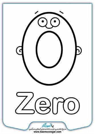 رنگ آمیزی اعداد انگلیسی حیوانات و صورتک های کارتونی برای کودکان