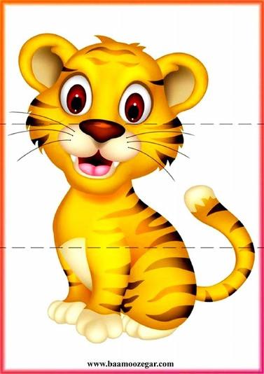 دانلود پازل سه تکه ساده حیوانات کارتونی برای کودکان